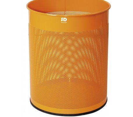 papelera-16-litros-perforada-naranja-round-series-